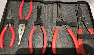 Mac Tools 5 Piece Plier Set ( Only 5) With Mac Case
