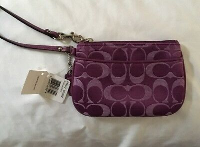 Authentic Coach Plum (purple) Wristlet. New With Tags