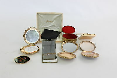 6 x Vintage Ladies Vanity Compacts Mixed Inc. Stratton & Boxed