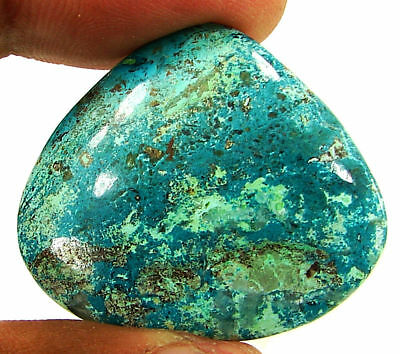 45.65 Ct Natural Azurite Loose Gemstone Cabochon Untreated Stone - 21345