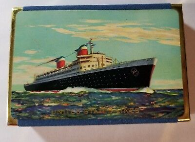 VINTAGE United States Lines SS UNITED STATES Playing Cards SEALED - 2 DECKS