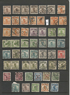 China Junk Stamps  Used Postmark Interest (10)