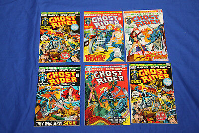 Marvel Spotlight Ghost Rider Comic Lot #7,8,9,10,11 Complete Run High Grade NM