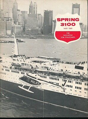 SPRING 3100 May 1969 NYPD Magazine QUEEN ELIZABETH 2 Ocean Liner Cover vv