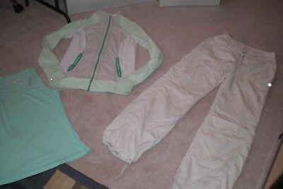Lot of Lululemon Lined Dance Studio Pants , Rare Jacket and  Tank Sz 8