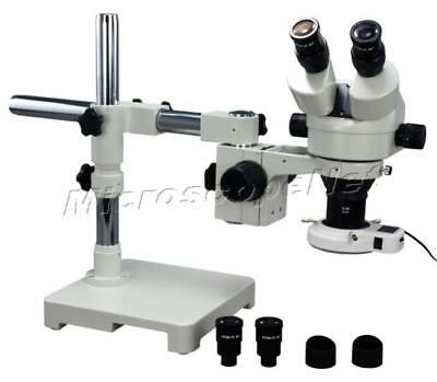 2.1X-90X Boom Stand Zoom Stereo Microscope+54 LED Ring Light+5 Years Warranty
