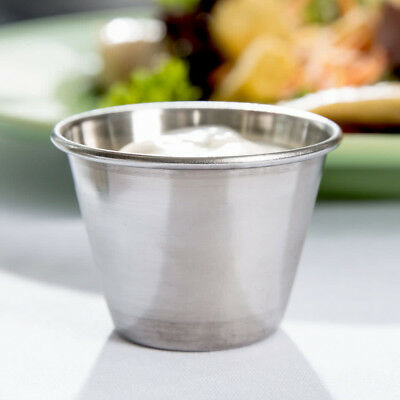 12 Pack Stainless Steel Sauce Cups 2.5 Ounce Condiment Ramekins - FREE SHIPPING
