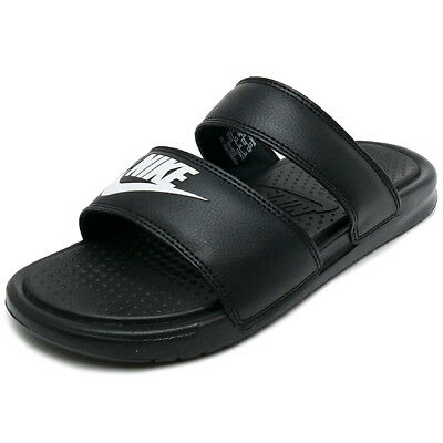 reputable site 75cf9 907ed white double strap nike sandals