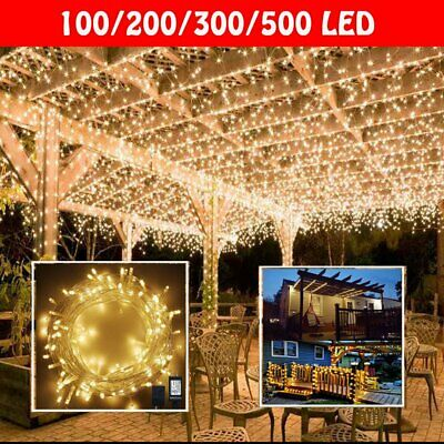 Waterproof Fairy Lights 20/100 /200 /300 /500 LED Outdoor Xmas Outside Wedding