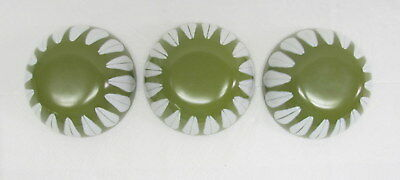 Green Lotus Catherine Holm 3 Condiment Bowls 4 Inches Diameter