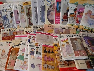 VINTAGE CRAFT SEWING Patterns,Doll & Baby Doll Clothes,Doll Crafts ...