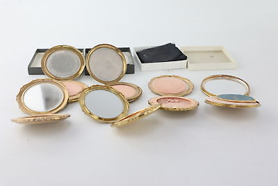 6 x Vintage Ladies Vanity Compacts Mixed Inc. Stratton & Signed Julie Piper etc