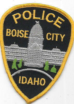 """Police Patch: Boise City Idaho Police Patch Measures 4"""" X 3"""""""