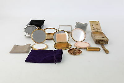 10 Vintage Ladies Compacts/Mirrors&Lipstick Views Inc. Stratton&Mother of Pearl