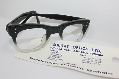 Black & Clear Vintage Eyeglasses 46 26 Optical Glasses retro NOS 1950's 60's