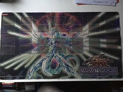 Yu-gi-oh! SPIELMATTE / PLAYMAT stardust overdrive sneak preview selten!