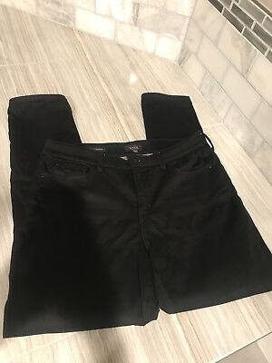 Not Your Daughters Jeans NYDJ Alina Legging Black Denim Stretch Slimming SZ 14
