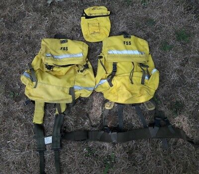 FSS FIREFIGHTER FOREST SERVICE FIELD PACKS M-1984 - Set of 2