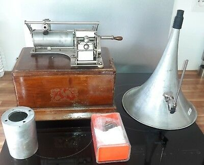 Phonographe A Cylindre Pathe Freres N°1 /phonograph With Cylinder Pathe Freres N