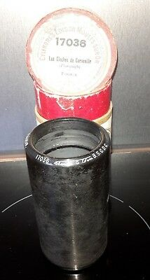 Cylindre Phonographe Ciren°17036 Record Phonograph Cylinder Gramophone N°17036