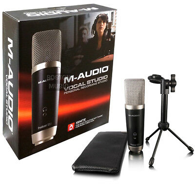 M-Audio Vocal Studio Set Recording USB Microphone 0694318014899 Software Include