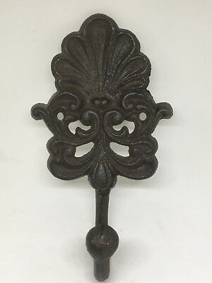 Antique Cast Iron Wall Mount Hanging Holder Hook French Country New Orleans
