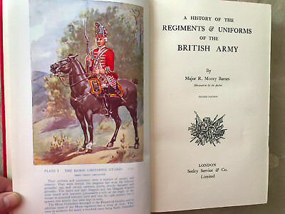 A History Of The Regiments & Uniforms Of The British Army BARNES 24 color plates