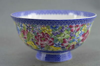 Collectable Chinese Style Porcelain relief Flower Royal Family Unique Bowl Gift