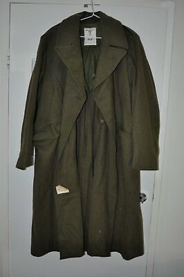Australian Army Great Coat / Trench Coat Size 10 Vietnam Era, Heavy Wool 1966