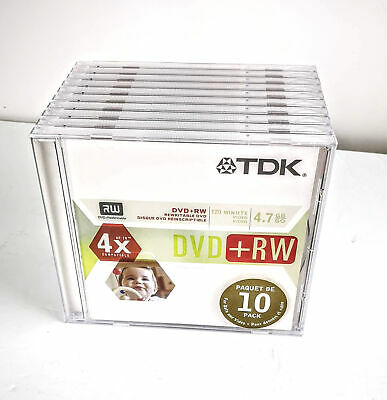 TDK DVD 10 Pak +RW 10 Pak Rewritable New Sealed w Cases
