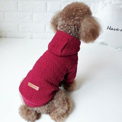New Pet Dog Cat Puppy Hoodie Sweater Coat For Small Pet Dog Warm Costume Apparel