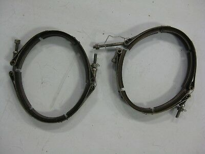 Bell Helicopter 206 B Exhaust Clamp 4606AC used, the pair