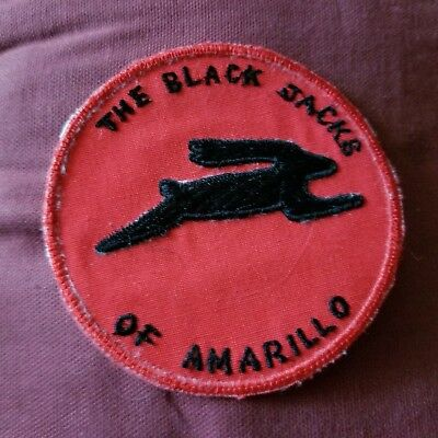 Vintage Military Patch The Black Jacks Of Amarillo Air Squadron