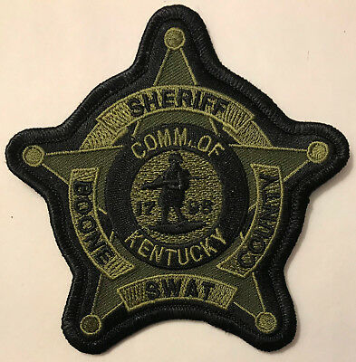 Boone County SWAT Kentucky KY SERT SRT Tactical Police Sheriff Patch OD Green
