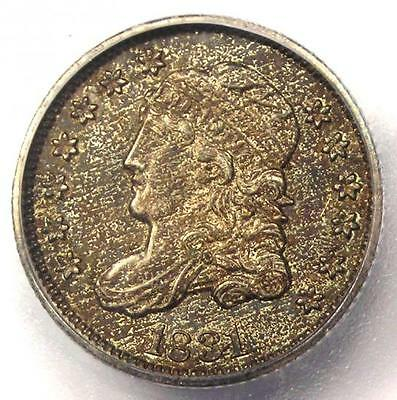 1831 Capped Bust Half Dime H10C Coin - Certified ICG MS62 (BU UNC) - $660 Value!