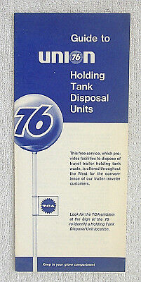 1960's UNION 76 HOLDING TANK DISPOSAL UNITS FOLDER BROCHURETravel Trailers Guide