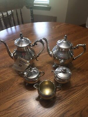 Five Piece Silver Plate Made By. F. B. Rogers Excellent Coffee Tea Set