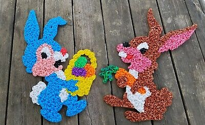 Vintage Melted Plastic Popcorn Easter Decorations