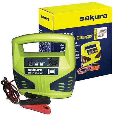Sakura SS3629 Car Battery Charger 4 Amp 12V Garage Tool Equipment Replacement
