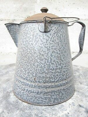 Early? Old Vintage Large Metal Enameled? Western Campfire Primitive Coffee Pot