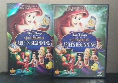 Authentic Disney:The Little Mermaid-Ariel's Beginning (DVD)w/Slipcover LIKE NEW