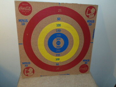 Vintage 1940 Milton Bradley Coca-Cola Darts / Baseball 2-Sided Board Game