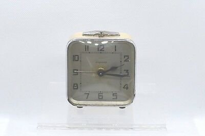 BAYARD Vintage alarm clock. Made in France. Small size.