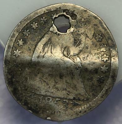 1853 Seated Liberty Silver Half Dime - Damaged - *DoubleJCoins* 176-02