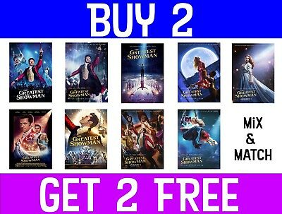 The Greatest Showman Movie Poster A4 A3 A2 Maxi Musical Films Wall Art Decor
