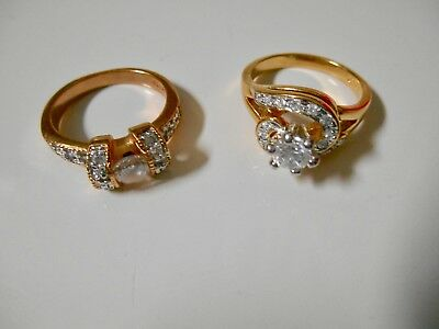 2 Princess Cruises Fashion Rings- Size 7- Gold Plated!