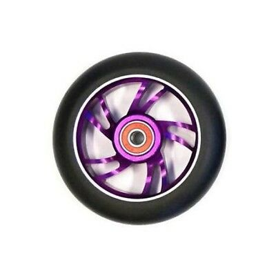 Scooter Wheel Alloy 100mm with Abec 9 Bearing Purple Core Razor Style Wheel