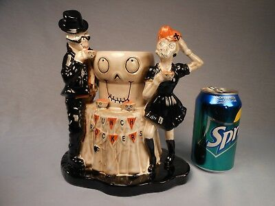 Yankee Candle Boney Bunch Halloween Punch Rockers Ceramic Votive Candle Display