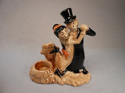 Yankee Candle Boney Bunch Halloween Dead On My Feet Ceramic Candle Holder