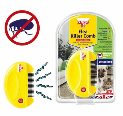 Flea Killer Stv Zero In  Electric Comb For Pet Cats & Dogs Kills Eggs + Fleas